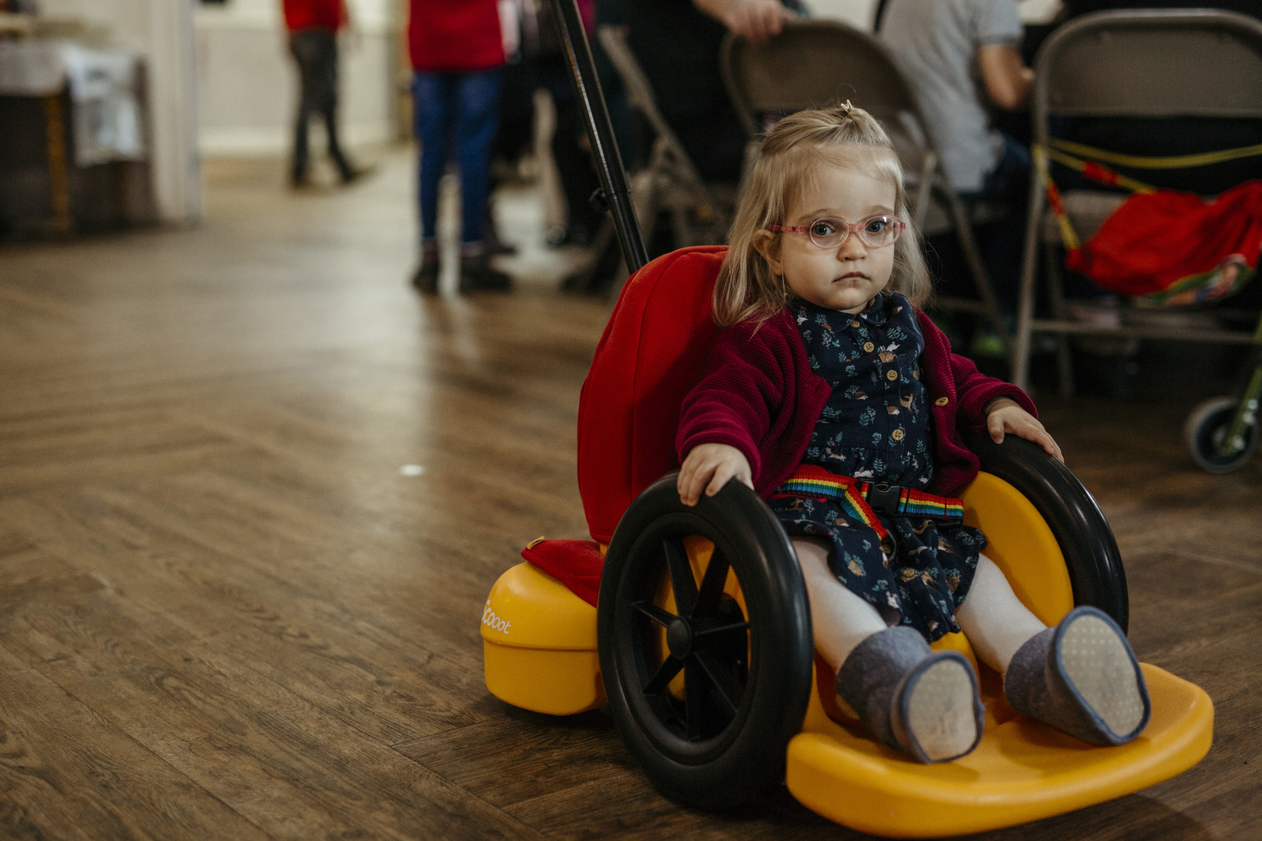 young charity member with spina bifida
