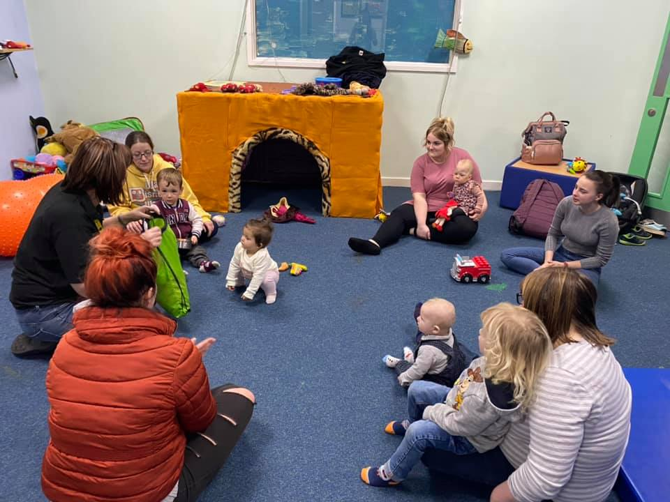 Children and their parents play together at our weekly accessible playgroup
