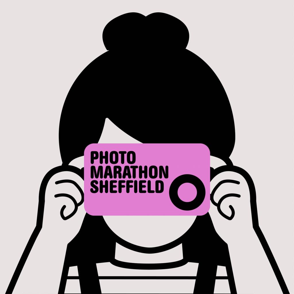 A cartoon image shows a girl holding a purple camera, which says 'Photomarathon Sheffield'.