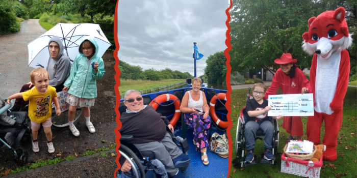 A Collage Of Three Photos Showing Various People Enjoying Our Charity Events.